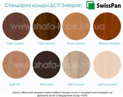 Зразки стандартних кольорів ДСП